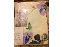Brand new luxury faux silk eyelet curtains still in packaging!!