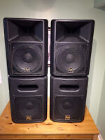 "Powered Electro Voice 12"" Full range Tops and 12"" Subs"