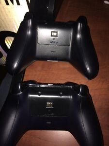 2 Xbox One controllers and Charging Station London Ontario image 2