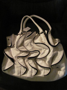 Brand new Ladies white and black designer purse