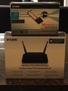 D-Link Wireless N Dual Band Router & Adapter FIRM PRICE