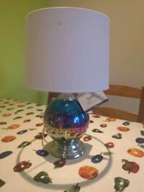 Glass Table lamp - petrol effect