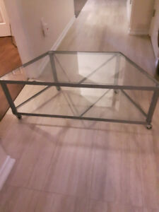 Glass tv table for sale
