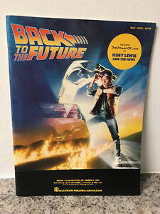 Back To The Future Sheet Music Book for Piano, Vocal and Guitar