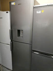 Beko Fridge freezer silver with water dispenser at Recyk Appliances