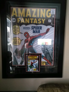 Large Spider-Man poster signed Stan Lee certified