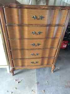 FRENCH PROVINCIAL DRESSER & NIGHTSTAND
