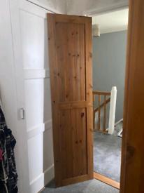 4 ikea Pine Wadrobe Doors with Knobs
