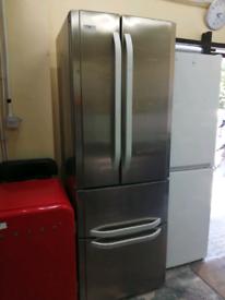 Hotpoint American Fridge freezer silver with warranty at Recyk Applian