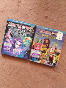 Two (2) Monster High Blu-ray/DVD combos
