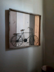 Wooden bike picture