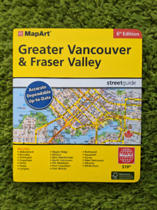 Vancouver & Fraser Valley Street Guide (MapArt 6th Edition)