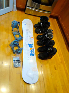Firefly 154cm Board,Bindings and 3 Pairs Of Boots
