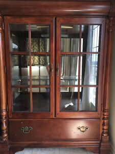 Wood China Cabinet (Display Light)