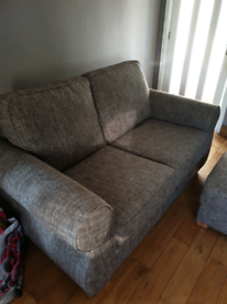 Brown Harveys Sofa with foot stool
