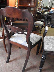 Pair antique victorian side balloon back chairs ornate carving Oakville / Halton Region Toronto (GTA) image 7