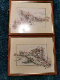 Pair of Glenda Rae signed prints