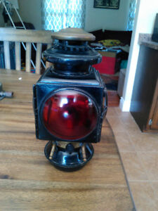 1908 E and J Automotive Lantern