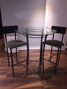 Bistro Table and Bar Stools