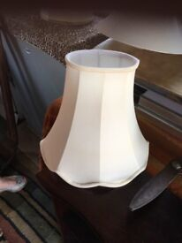 Quality lined lamp shades in cream as new