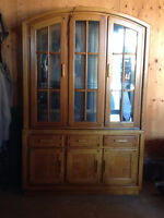 Immaculate Solid Wood Lighted China Cabinet