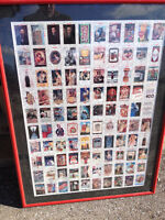 Custom Framed Coca Cola Collector Cards, Collect-A-Card Series 1