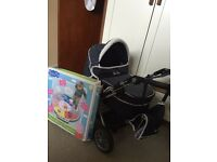 Dolls pram (good condition) and dance mat (new)