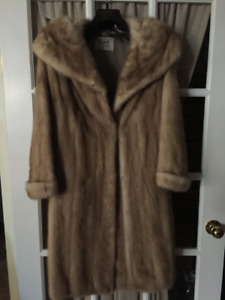Beautiful Pastel Mink Coat - Vintage