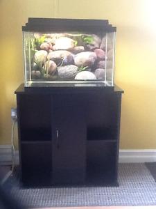 20g fish tank / stand.
