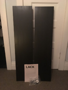 Two matching black Ikea floating shelves 110x26 cm