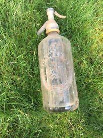 Old Schweppes soda glass bottle
