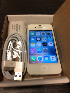Unlocked 100% Original iphone 4,4s boite,chargeur,comme neuf