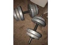Pair of dumbbells for sale 17.5kg of weight