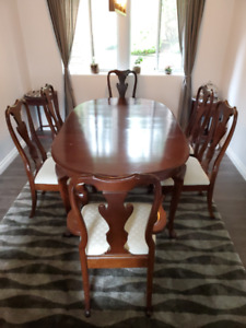 Keller Dining Table and 6 chairs for sale $150