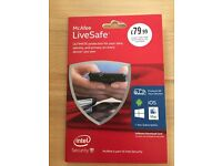 McAfee LiveSafe 1 year subscription (OPEN FOR OFFERS)