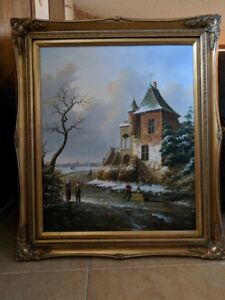 Peinture à l'huile sur toile / Oil painting on canvus