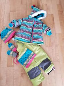 Habit de neige souris mini pour fille 12 mois