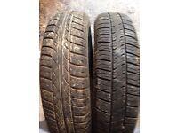 Job lot of tyres