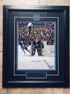 Maple Leafs Johnny Bower signed photo