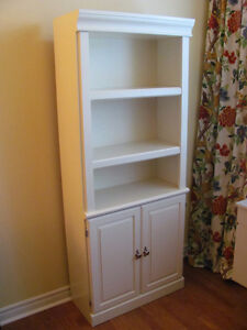 Pair 2 Matching BOOKCASES BOOK SHELVES CUPBOARDS Quality Exc!