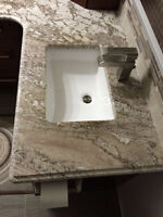 Update your old countertops removal and new countertops installa