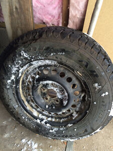 Goodyear Nordic Winter Tires on rims.  Price negotiable! Prince George British Columbia image 1