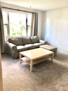 Furnished two bedroom apartment is available from January 1st