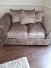 Brand new 2x2 seater sofas plus foot stall
