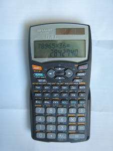 SHARP EL-520W Scientific Calculator calculatrice