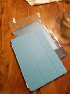 Blue IPad Air 2 Magnetic Case with Screen Protector