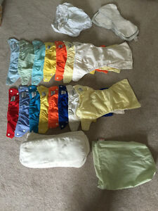 Fuzzi buns diapers with inserts, additional liners, diaper sac Prince George British Columbia image 1