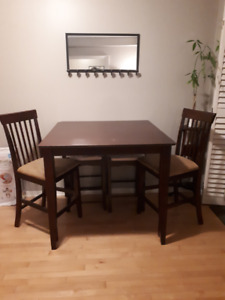 Counter height table with chairs