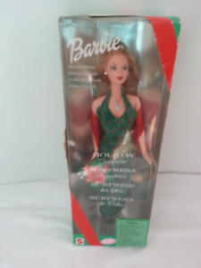 Holiday surprise barbie doll