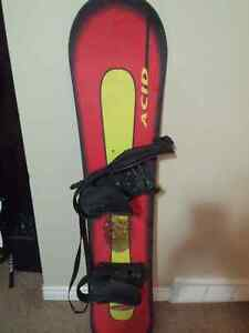 X-Cuse ACID 145 cm Snowboard with Bindings ONLY $50